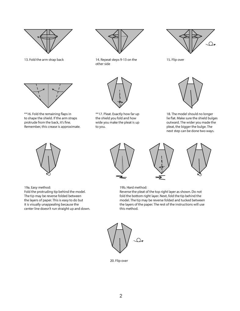 Origami Shield The Worlds Best Photos Of And Sword Diagrams This Is We Make In Download