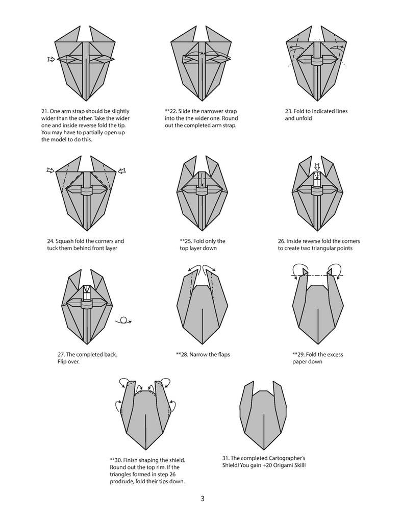 origami cartographer u0026 39 s shield diagram page 3 by houndread on deviantart
