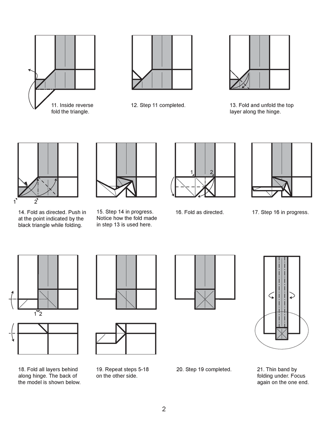 Origami Scroll Diagram 2 By Houndread On Deviantart