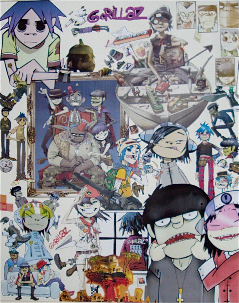 Gorillaz collage 2 by Natasha96