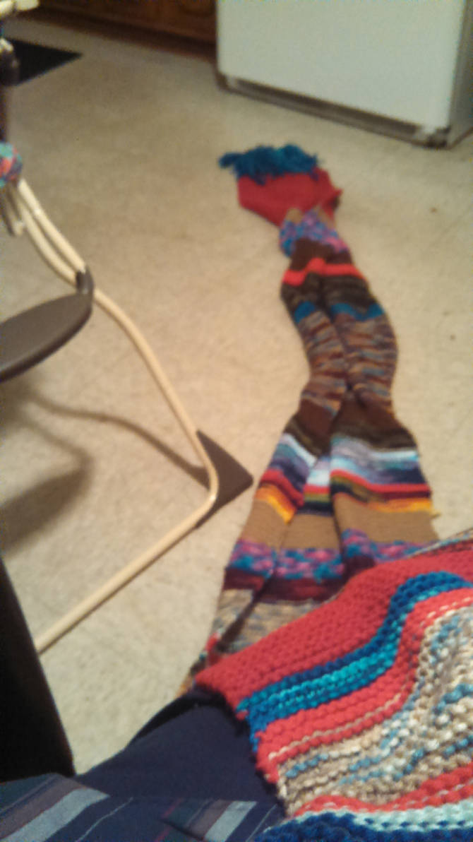 my own doctor who multi color scarf from tom Baker