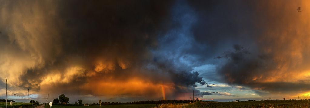 Thunderstorm at Dusk by Karisa-L-Clark