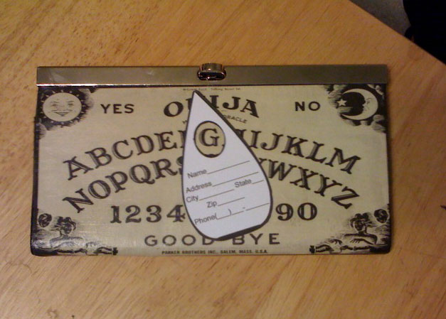 Ouija Wallet with Planchette by forkboy