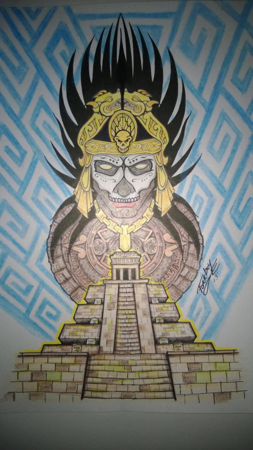 Aztec 1/2 Sleeve Concept - Color by forkboy