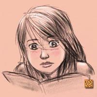 Reading girl by ultorgabrihel
