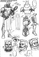Sir Mendoran Character Design by ultorgabrihel