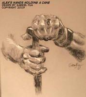 Alex's Hands Holding a Cane by ultorgabrihel
