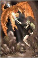 Nadine Strikes a Gargoyle by ultorgabrihel