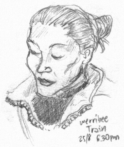 Woman in the train by ultorgabrihel
