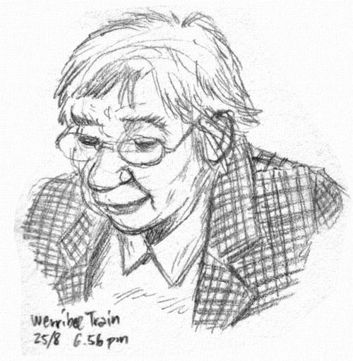 Old lady in the same train by ultorgabrihel