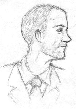 skin head guy sketch by ultorgabrihel