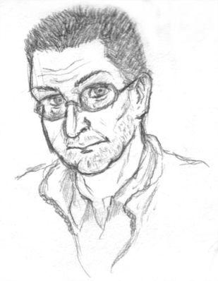 spiky hair guy sketch by ultorgabrihel