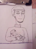 Lightning Holding His New Cousin by materialgirl1534