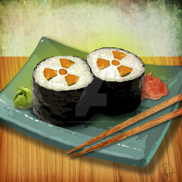 Radioactive Sushi by LovelyShrew