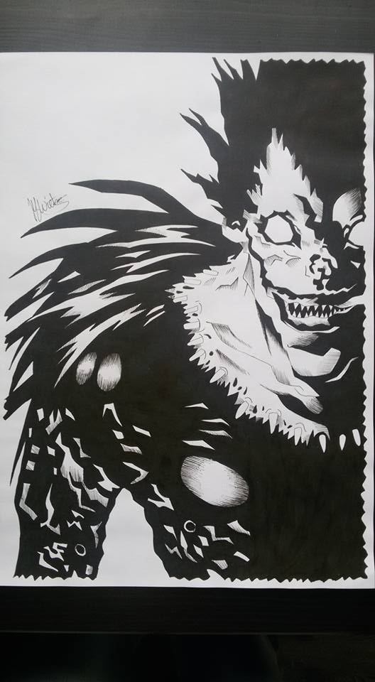 Death Note Ryuk Drawing By Moon Drawing On Deviantart