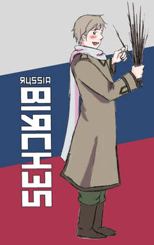 Russia and his Birches by Arkham-Insanity