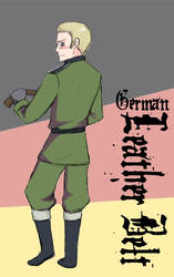 Germany and his Leather Belt by Arkham-Insanity