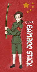 China and his Bamboo Stick by Arkham-Insanity