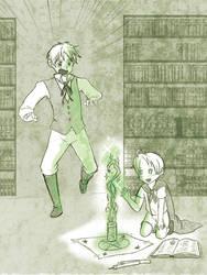 Look Arthur...I can make magic by Arkham-Insanity