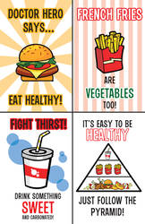 Doctor Heros Un-Healthy Poster by Arkham-Insanity