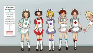 Nurse Line Up by Arkham-Insanity