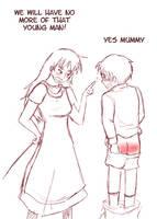 Mummy was not happy by Arkham-Insanity