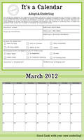 Not an Adoption Form -March-