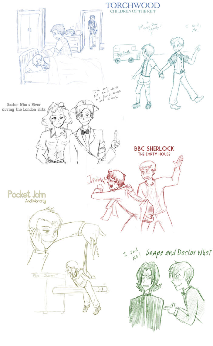 BBC Sketch Dump by Arkham-Insanity