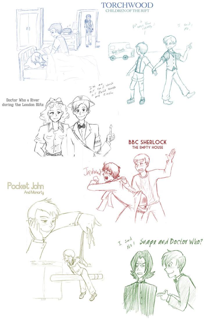 BBC Sketch Dump by Arkham-Insanity