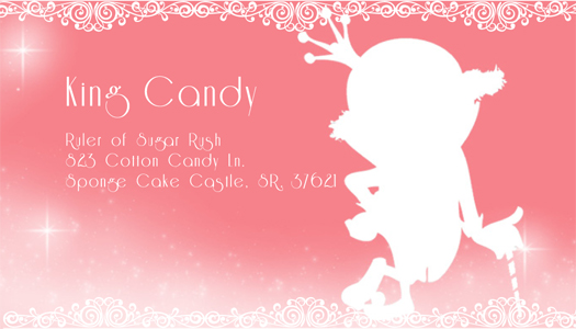 King Candy Business Card by Arkham-Insanity