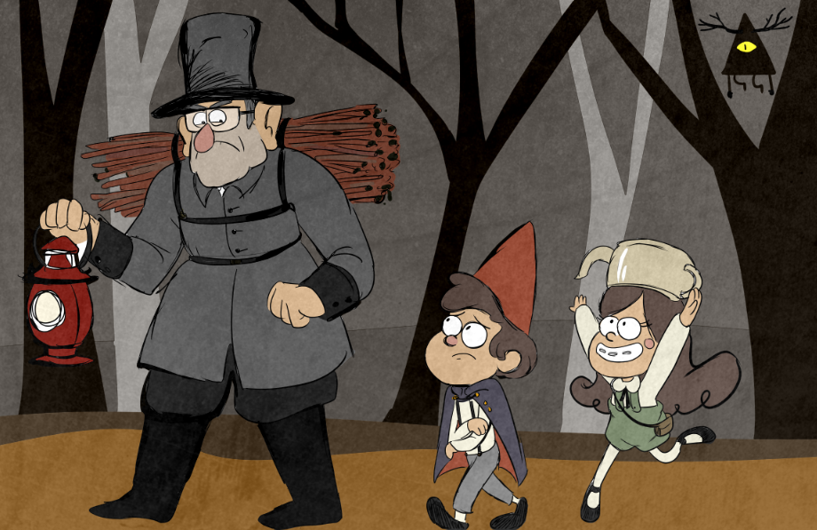 Over The Gravity Falls By Arkham Insanity On Deviantart