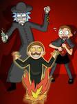 Evil Morty vs Father Rick