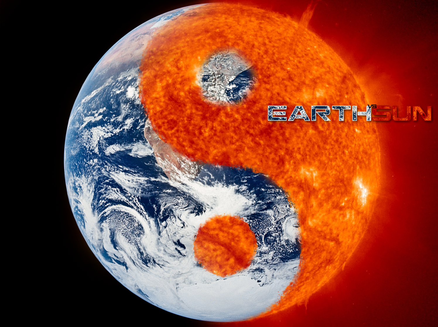 Earth vs Sun by 1madhatter on DeviantArt