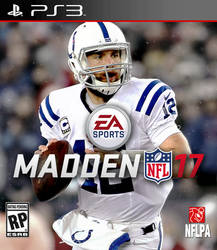 Madden 17 PS3 Cover - Andrew Luck