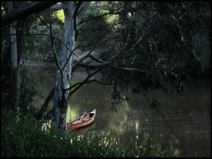 Lone Boat on the Yarra