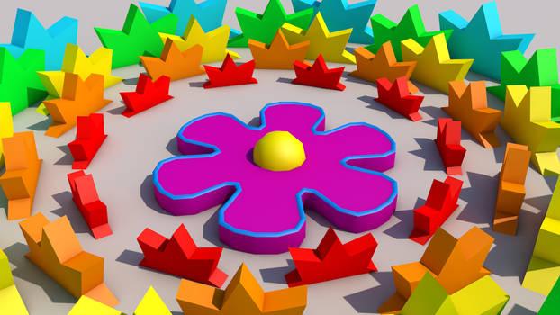 3D Flower Circle