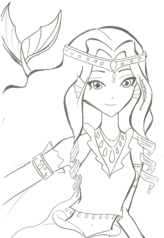 Line Art Queen : Mermaid queen by heartoffiresoulofice on deviantart
