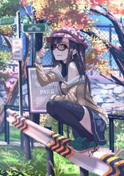 Random Girl in Random Park by sydusarts