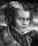 Sweeney Todd Black and White