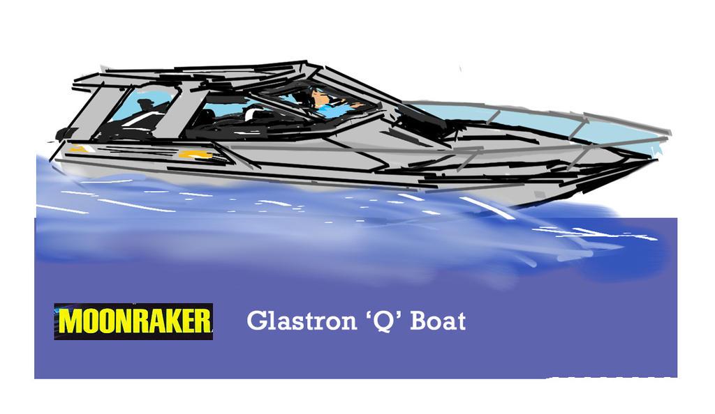 Moonraker Glastron Q Boat drawing by dantepugliese on DeviantArt