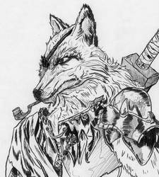 fox warrior cool guy by FutureReagan
