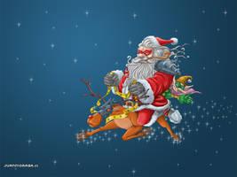 Battle Santa by DocVector