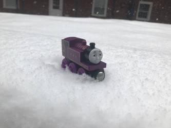 Ryan in the Snow by LUCADOLLAR