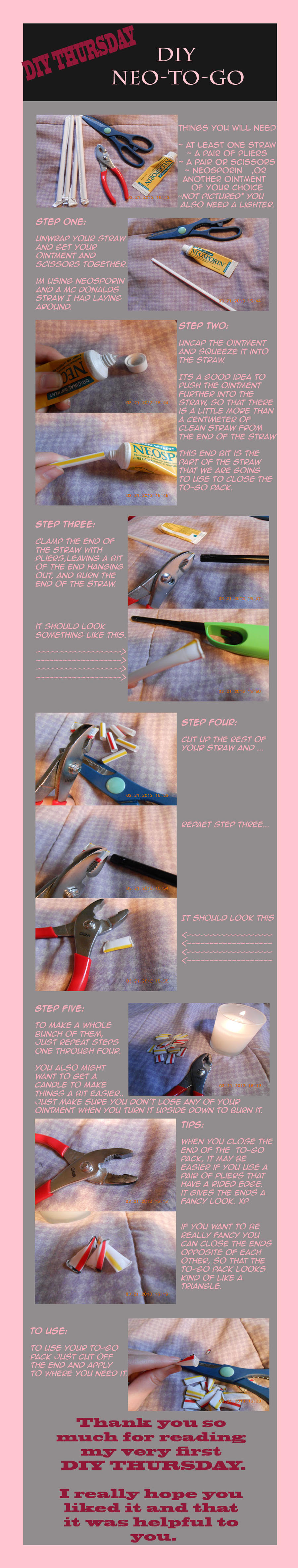 DIY THURSDAY *Neo-to-go* by dinoblood