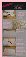 DIY THURSDAY *How to make your own pattern*