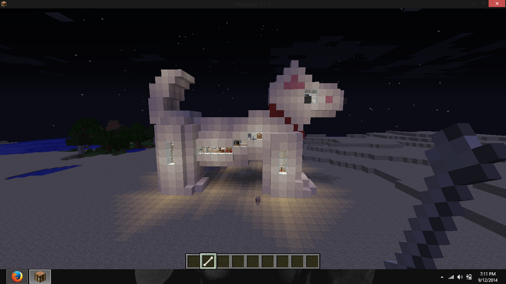 how to build a doghouse in minecraft