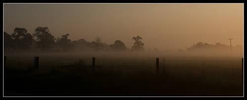 Mists over Ston Easton by korenwolf