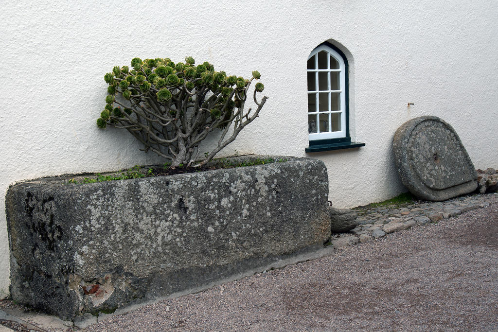 Trough and stone