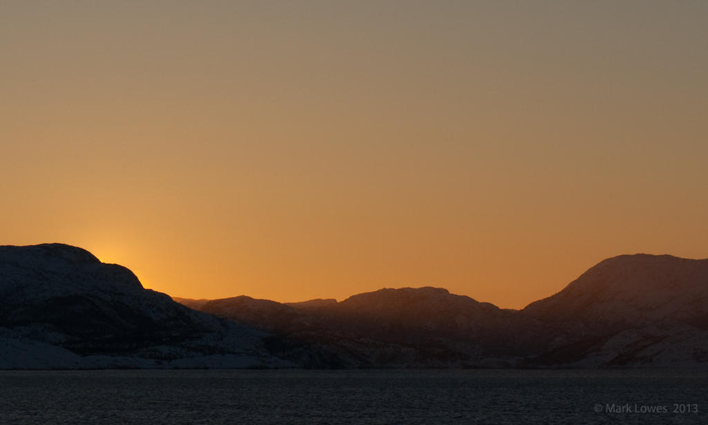 Sunrise (almost) in Norway