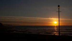 Sunset at Seaton, Devon